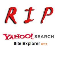 Yahoo To Suspend Yahoo Site Explorer
