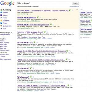 Who is Jesus in Google