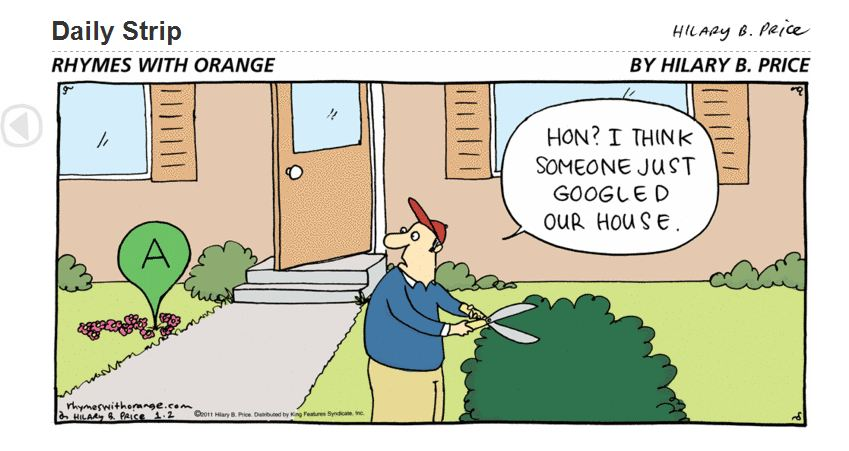 Google Places Comic - Googled Our Lawn